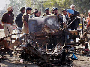 The Election Commission has sought a report from Punjab Police on the car explosion.