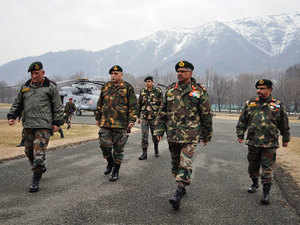 Accompanied by the Lt Gen Anbu and Lt Gen Sandhu, the spokesman said Army Chief today visited LoC formations in north Kashmir where he was briefed on the operational and logistical preparedness.