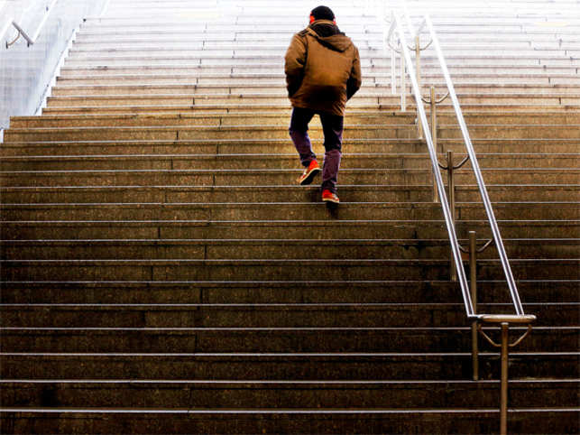 No time to hit the gym? Short, intense stair climbing is good for