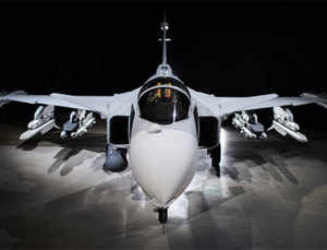 Saab is also looking at supplying the Indian Navy a naval version of Gripen with advanced features and capablility to take off from aircraft carriers.