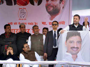 Rahul Gandhi campaigning for the Congress in Saharanpur.