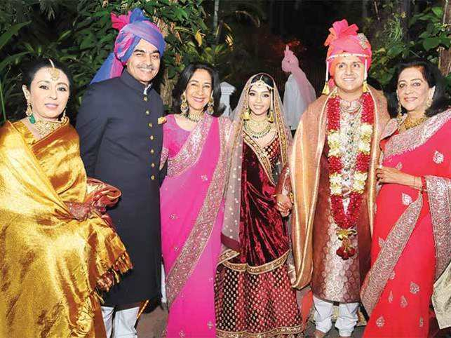 Ambika Ghorpade Extreme Left And Guests With The Couple