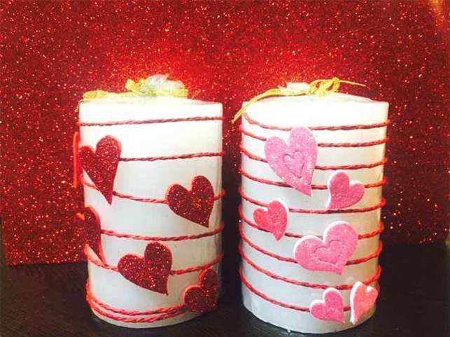 This v day skip the flowers and gift a hand made candle instead do it yourself gifts are a romantic way to show your love solutioingenieria Image collections