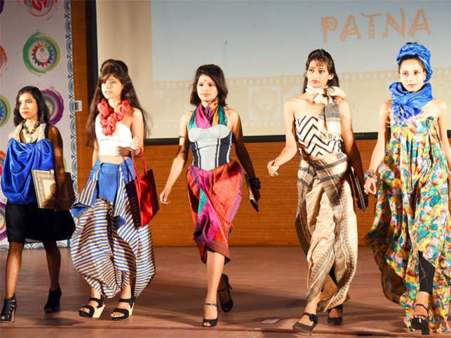 NIFT students participating in local dress pattern based Fashion Show