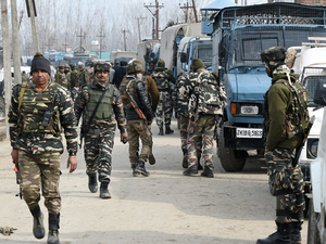The valley had witnessed a bloody day two days earlier on February 12 when four militants were gunned down in an encounter .