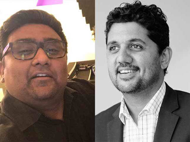 Kunal Shah (L) contends that it's common among startup founders to play poker for fun.  Amrish Rau (right).