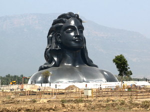 The Adiyogi Shiva murti at Isha Foundation.