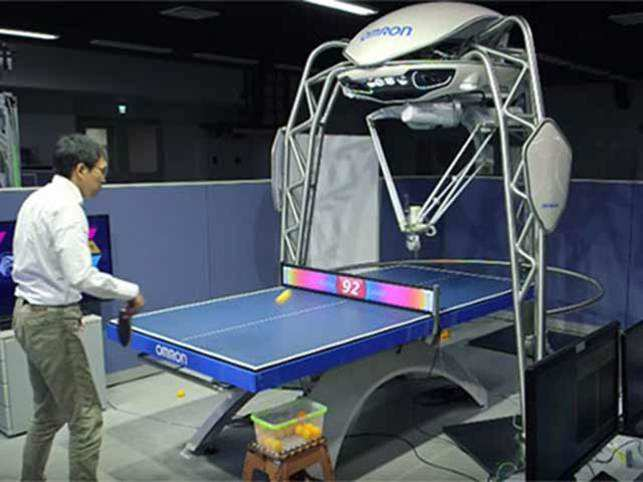FORPHEUS acts as a coach using its cutting edge vision and motion sensors.