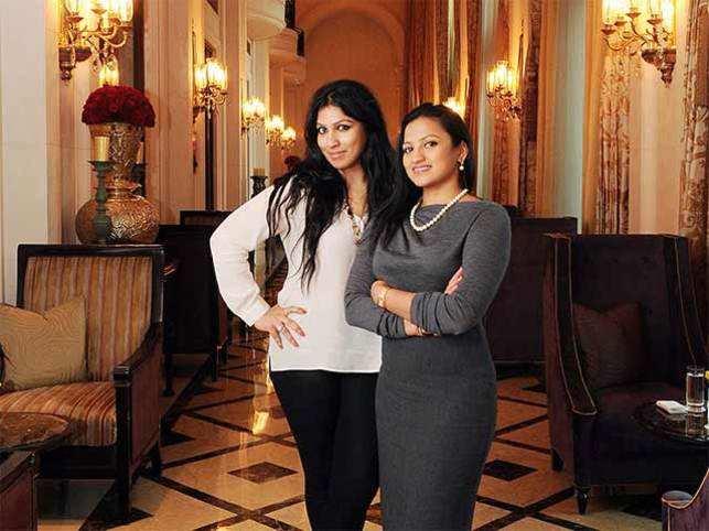 Amruda Nair with sister Aishwarya Nair.