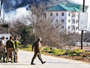 Security forces have been put on a alert and a manhunt has been launched for the militants
