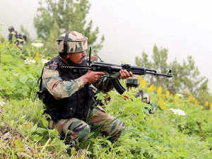 According to reports, one jawan has been injured in the firing.