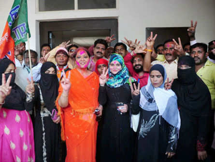 Division Of Votes Sees Bjp Through In Muslim Areas