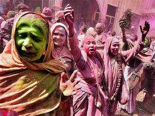 Widows shun taboo, play Holi in Vrindavan