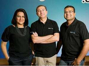The statement comes days after another co-founder Sandeep Aggarwal charged the duo of downplaying his role in creation of the online marketplace. (In pic: Radhika Aggarwal, Sanjay Sethi and Sandeep Aggarwal)