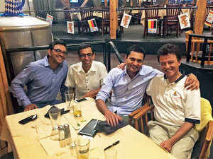 (From left to right) Junglee.com founders Venky Harinarayan, Ashish Gupta, Anand Rajaraman and Rakesh Mathur.