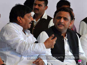 Akhilesh and Shivpal Yadav have never been seen together after a bitter feud broke out in the party.