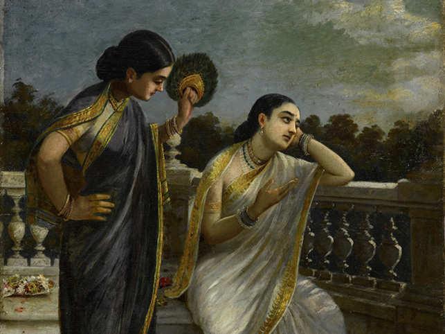 Raja Ravi Varma's untitled (Damyanti) went under the hammer for USD 1,692,500.