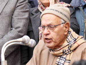 Farooq Abdullah said the NC had been saying since 1947 that Kashmir issue was a political problem and needs a political solution.