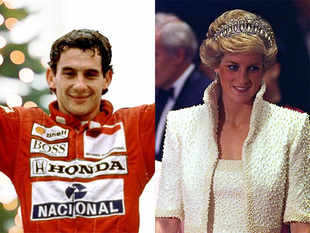 Ayrton Senna (left) and Princess Diana (right)