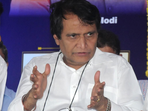 """Prabhu said his ministry was on a """"mission mode"""" to transform the Railways."""
