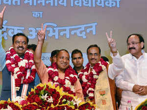 The 44-year-old priest-turned-politician will be addressing his first press conference in the evening after taking charge as the Chief Minister, BJP sources said.