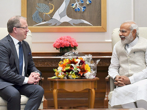 Lundstedt is the latest automotive industry leader to meet Modi.