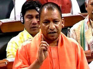 """Adityanath smiled at the Opposition benches before saying, """"I am a year younger than Rahul Gandhi and a year older than Akhilesh Yadav."""