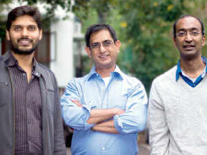 The cofounders of ten3T - (from left) Rahul Shingrani, Sudhir Borgonha and Manish Singhal.
