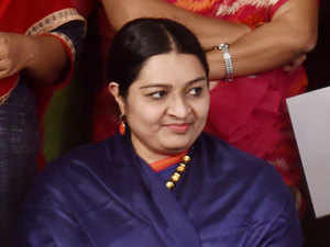 In her nomination filed yesterday, Deepa declared that she owns movable properties worth Rs 1.05 crore and immovable properties worth Rs two crore.