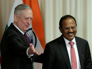 Defense Secretary James Mattis welcomes Ajit Doval National Security Advisor of India