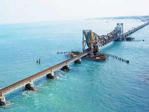 Ram Sethu is a chain of limestone shoals between Pamban Island off Tamil Nadu and Sri Lanka's Mannar Island.