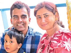 Mumbai-based Sanjay Pande, 39, Salaried, needs to cover his risks and speed up investment to reach his milestones.