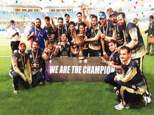 In the final at the Dubai International Cricket Stadium on Friday, Rajbagh Royals [In pic] beat Razaykadal Superheroes.