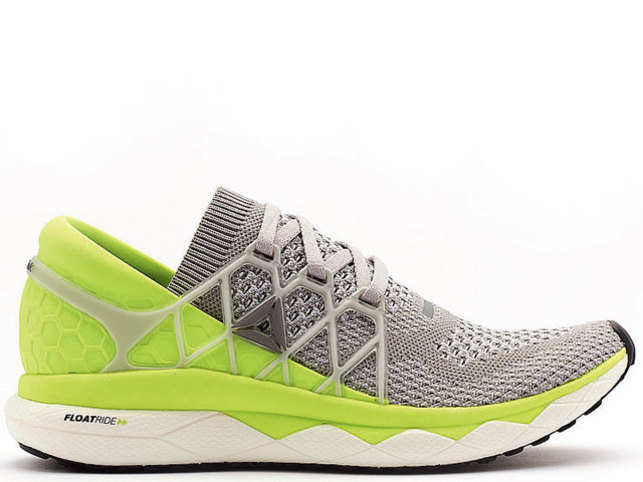 The Floatride is a mix of minimalist shoe style and trainers, which make it ideal for a daily run or a marathon.