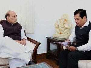 Sarbanand Sonowal urged the Union Home Minister to give appropriate instructions to complete the Indo-Bangladesh border fencing.