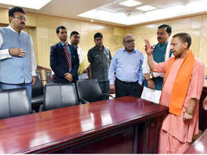 Yogi Adityanath's surprise visits to different parts of the state secretariat, including the record rooms, indicate that the chief minister is leaving nothing to chance.