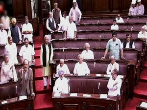 As the government did not heed to their demand, the Opposition members trooped into the Well, forcing the Chair to adjourn the House till 1200 hours.