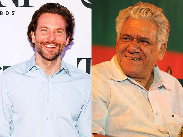 Bradley Cooper (Left) and Om Puri (right)
