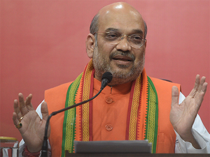 Shah held two separate meetings with Union ministers, MPs and and party leaders from Delhi to chalk out strategy for the polls.