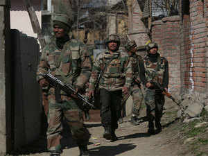 """""""The search operation turned into a gunbattle after militants opened fire on security forces,"""" the official said, adding that the exchange of firing was going on till last reports came in. (Representative Image)"""