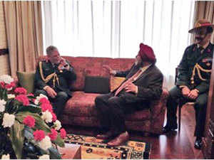 Gen Bipin Rawat met and interacted with Manjeev Singh Puri, Ambassador of India to Nepal today.
