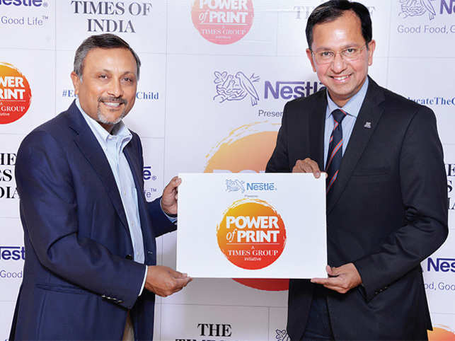 Left: Raj Jain, CEO, BCCL and Suresh Narayanan, Chairman & MD, Nestle India