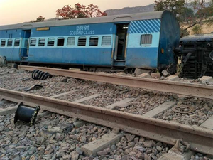 A part of the railway track measuring 400 metres was damaged due to the derailment of eight coaches of the Delhi- bound train.