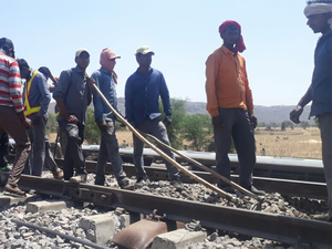 The derailment took place near Mahoba station in Uttar Pradesh.