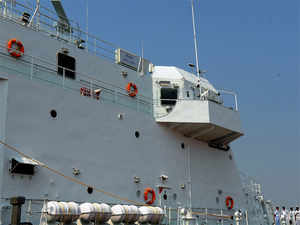 The Indian Navy yesterday said it sent its frontline warships, INS Mumbai and INS Tarkash, to coordinate with the Chinese navy.