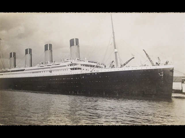 The photo is  said to have been taken on April 9, 1912 at Titanic's berth in the UK.(Image: www.henry-aldridge.co.uk)