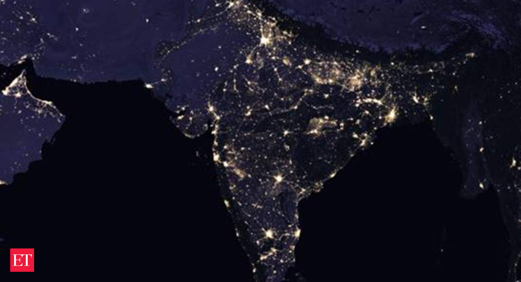 nasa  nasa releases satellite images of india at night and