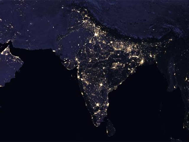India Map Satellite View NASA: NASA releases satellite images of India at night and they