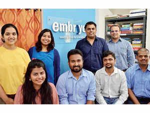 The Embryyo Technologies team. It is also looking to raise around $2 million in the next three to five months.