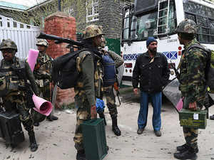 The CRPF had strongly protested with the Jammu and Kashmir police as its personnel and polling staff had abandoned the polling station early, officials said.